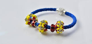 bead bracelet european images How to make blue nylon threads kumihimo bracelet with european jpg