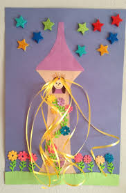 rapunzel tower craft princess craft preschool craft