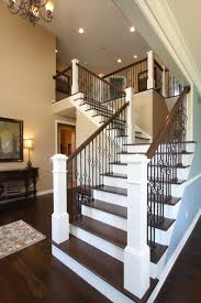 Height Of Handrails On Stairs by Craftsman Staircase Transitional Staircase Houston