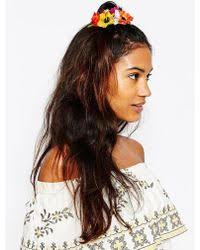 hair corsage asos flower hair corsage and brooch lyst