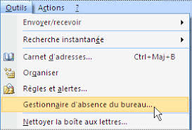 absence bureau outlook absence bureau outlook 100 images 4 mettre en place un message