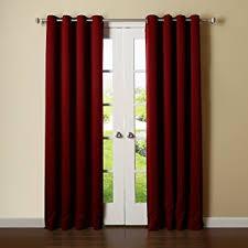 Grommet Blackout Drapes Plush Burgundy Blackout Curtains Thermal Blackout Curtains Thermal