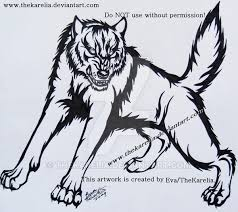 tribal wolf tattoo design by thekarelia on deviantart