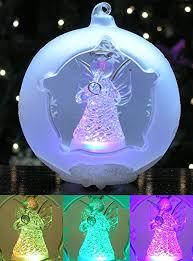 lighted angel christmas decoration amazon com lighted angel christmas ornament led ball ornament