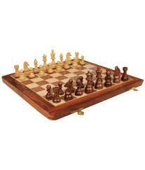 desi karigar collectible folding wooden chess game board set 12