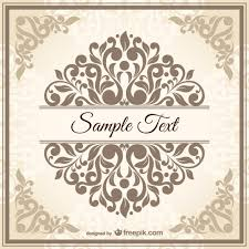 vintage damask style template vector free