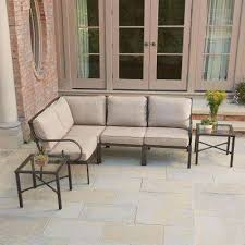 Patio Conversation Sets Outdoor Lounge Furniture The Home Depot - Outdoor furniture sectional