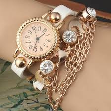 leather strap bracelet watches images New crystal lady watches fashion bohemia braided leather strap jpg