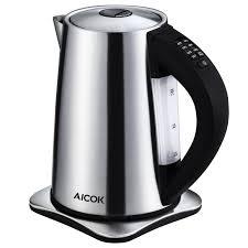 cuisiner avec une bouilloire aicok bouilloire électrique thermostat réglable pour bouilloire à