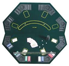 octagonal poker table top foldable for up to 8 players