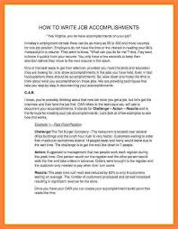 Resume Accomplishments Examples by 12 Employee Accomplishments Examples Obituary Example