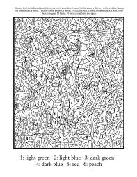 printable color by number pages for adults coloring tone