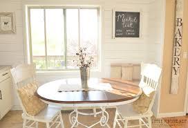 dining nook breakfast nook planked wall tutorial little vintage nest