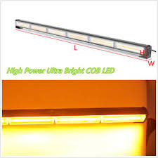 cob led light bar 108w cob led amber car pickup roof bumper emergency strobe light bar