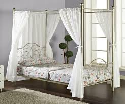 Metal Canopy Bed by Bedroom White Canopy Bed Drapes With Metal Bed And Grey Wall For