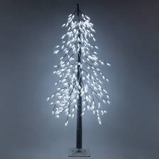 6 cool white led frosted alpine wisp tree yard envy