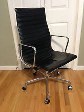 Herman Miller Leather Chair Herman Miller Grey Eames Time Life Leather Executive Chair Ebay