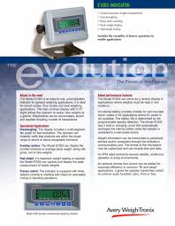 model e1005 for bench scales floor scales and tank weighing