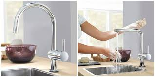 Hansgrohe Kitchen Faucet Replacement Parts by Bathroom Chic Grohe Faucets In Silver With Curved Neck For