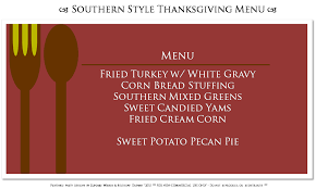 southern style thanksgiving dinner cupcake wishes u0026 birthday dreams casual thanksgiving menus