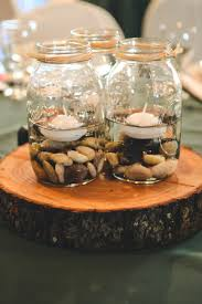 mason jar centerpieces i have the stones and we could buy the