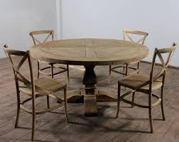 unique wood dining room tables unique distressed round dining table in elegant look