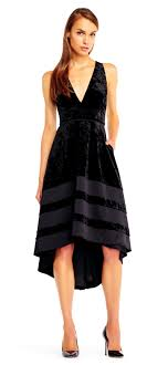 halter dress high low velvet halter dress with v neckline aidan mattox