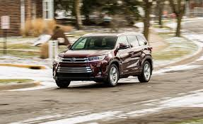 toyota awd cars 2017 toyota highlander hybrid awd test review car and driver