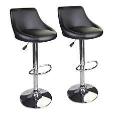 amazon com leopard bucket seat adjustable bar stools set of 2