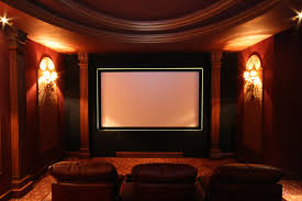 Home Movie Theater Wall Decor Home Theater Movie Design With Wood Wall Floor And Square Fancy
