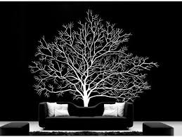 featured beautiful white tree decal for wall remodeling striking
