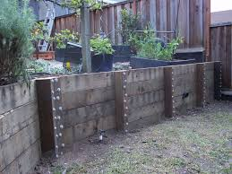 wood retaining wall design example video and photos