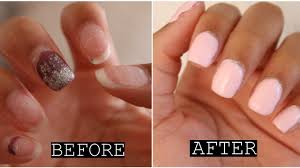 how to remove acrylic nails in 10min at home gel manicure ft