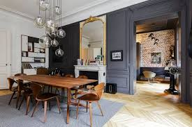 design attractor spectacular parisian apartment with mid century