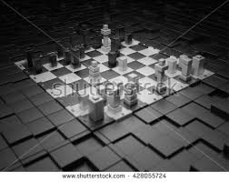 Futuristic Chess Set 3d Chess Board Wallpaper Stock Images Royalty Free Images
