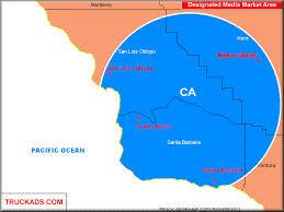 santa barbara california map truck ads santa barbara santa san luis obispo bakersfield