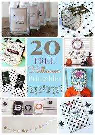 72 halloween printables images holidays
