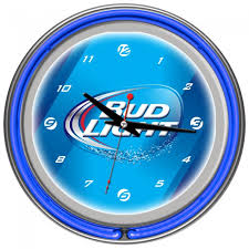 Bud Light Logo Light Swoosh Logo Neon Clock