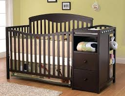 4 In 1 Convertible Crib With Changer Crib With Changing Table 4 In 1 Convertible Crib And Changer Crib