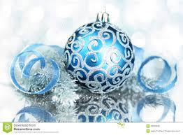 shining christmas blue decorations breathtaking stock photo image