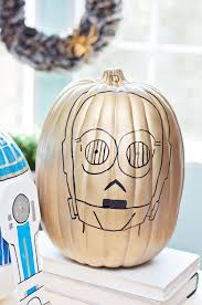 r2 d2 and c 3po star wars pumpkins diycandy com