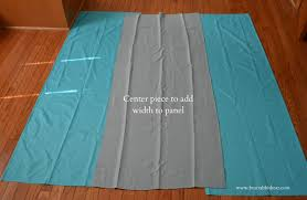How To Make Curtains Longer Vertical Ruffle One Panel Curtains