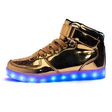 light up shoes gold high top skuls3012 4 jpg