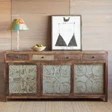 large tin u0026 reclaimed wood console robert redford u0027s sundance catalog