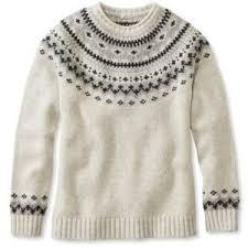 white wool sweater l l bean ragg wool sweater fair isle crewneck polyvore
