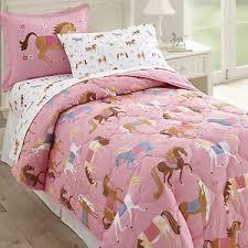 wildkin olive horses 4 toddler bedding set ebay