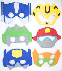 transformer rescue bots party supplies rescue bots party masks rescue bots birthday rescue bots party