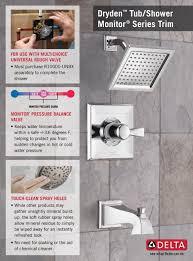 Dryden Delta Faucet Delta Dryden 1 Handle Tub And Shower Faucet Trim Kit Only In