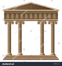 top design greek architecture columns vector ancient greek