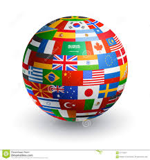 World Flag Vector 3d World Flag Globe Stock Vector Image Of French 57276007